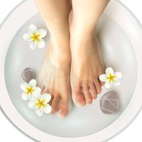 Pedicura spa ilustración