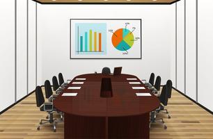 Illustrazione interna leggera della sala per conferenze