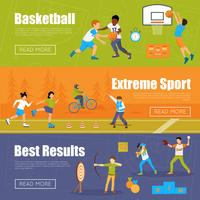Horizontal Banners Of Kids Sport