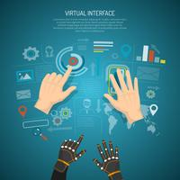 Concetto di design dell'interfaccia virtuale