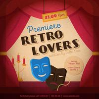 Ilustração de cartaz de teatro