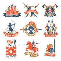 Heraldische Ritterlogos