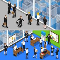Business People 2 Isometric Banners