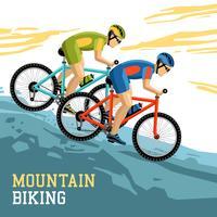 Ilustración de ciclismo de montaña