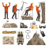 Klettern, Wandern von Bergsteigen-Ikonen