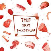 tecknad kött sätta sömlöst mönster