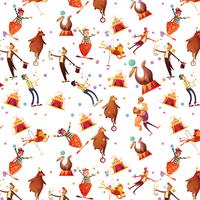 Circus Seamless Decorative Retro Cartoon Pattern