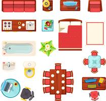 Home Furniture Top View Set