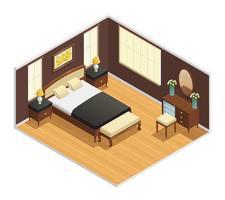 Interior de lujo isométrico
