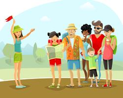 Tour de férias guia de ilustração