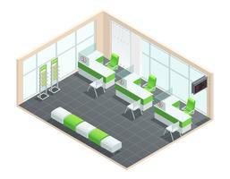 Bank-Innenraumkonzept