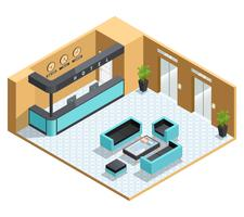 Hall Interior Isometric Illustration