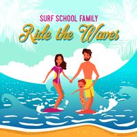 surf school vektor illustration