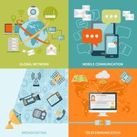 Concepto de diseño de telecomunicaciones 2x2