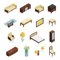 Luxury Interior Isometric Elements
