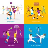 Concetto di giochi sportivi