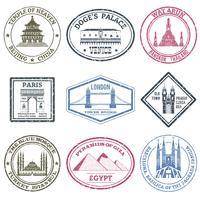 Monuments Frimärken Set