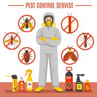 Pest Control Service Illustration vector