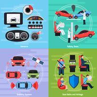 Auto veiligheidssystemen sjabloon