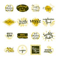 Vegan Labels Set