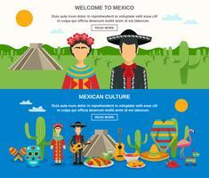 ensemble de bannière mexique