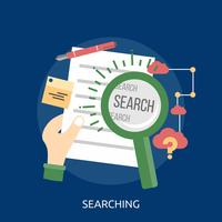 Searching Conceptual illustration Design vector