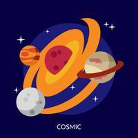 Kosmisch Conceptueel illustratieontwerp
