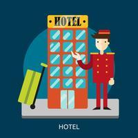 Hotel Conceptual Ilustración Diseño vector