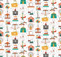 Funfair Fair Amusement Park Seamless Pattern