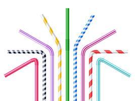 Drinking Straws Realistic Illustration