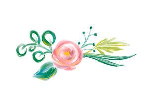 Bouquet de fleurs aquarelle vecteur printemps mignon. Art isolé illustration pour la conception de mariage ou de vacances, roses de peinture dessinés à la main