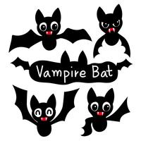 conception de collection de vecteur chauve-souris vampire