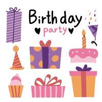 disegno vettoriale di festa di compleanno