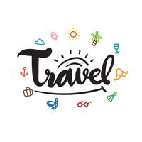 travel vector collection design