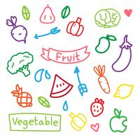 fruit and vegetable vector design