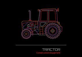 Tractor Vector Neon Design