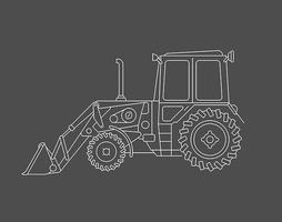 Excavator vector lie art design