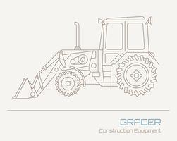 Grävmaskinvektordragning