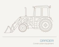 Excavator vector draw