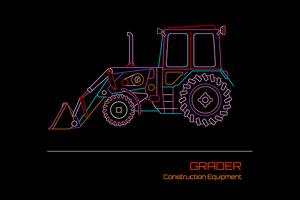 Grader-Vektor-Illustration