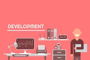 Illustration vectorielle de développement