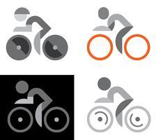Projetos de logotipo de vetor de bicicleta