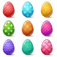Happy easter, Set color egg.
