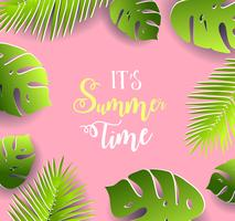 Summer time vector banner design.