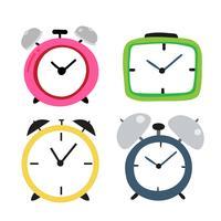 design de coleção de vetor de relógio