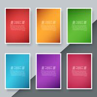 Business paper template - origami background.