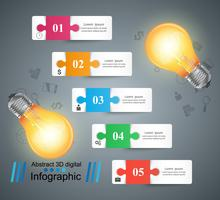 Bulb, light, electric - business infographic.