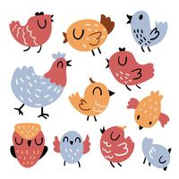 bird character vector design
