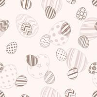 Happy easter - seamless egg pattern