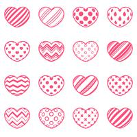 Set love and heart icon